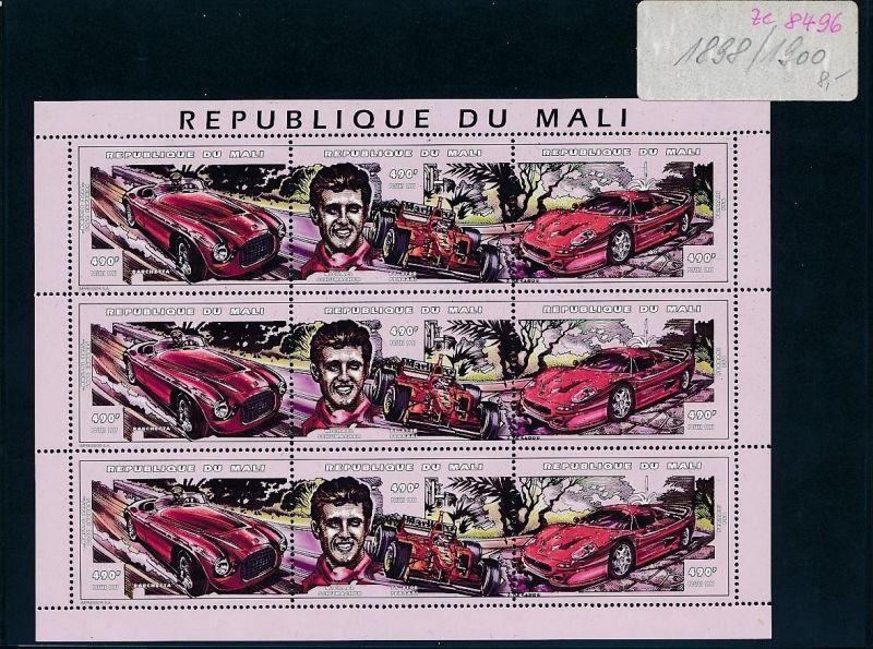 Formel 1-Michael Schumacher Block- Mali    **  (ze8496 ) siehe scan