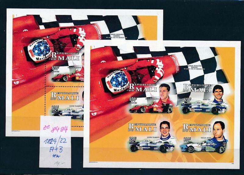 Formel 1-Michael Schumacher 2x Block- Mali    **  (ze8494 ) siehe scan
