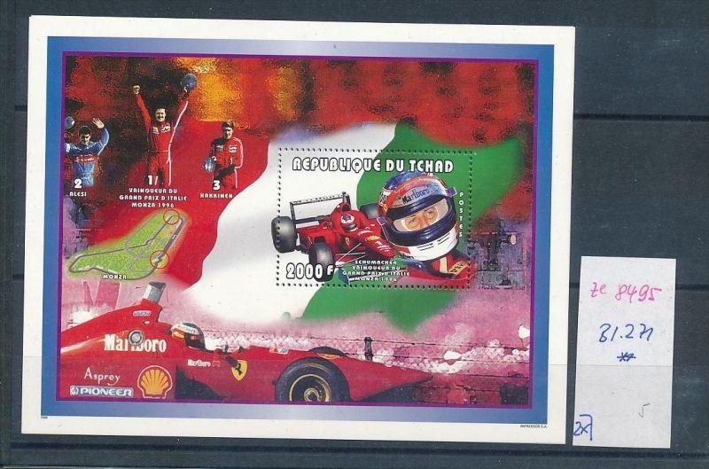 Formel 1-Michael Schumacher- Block Tschad    **  (ze8495 ) siehe scan
