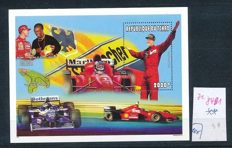Formel 1-Michael Schumacher- Block- Tschad   **  (ze8491 ) siehe scan
