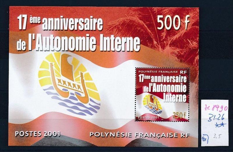 Formel 1-Michael Schumacher- Block-Franz.Polynesien **  (ze8490 ) siehe scan