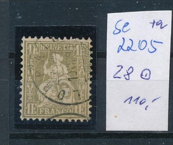 Schweiz  Nr. 28  o   ( se2205 ) siehe Bild !
