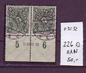 D-Reich Nr. 226 HAN  o  ( o3035 ) siehe scan !!