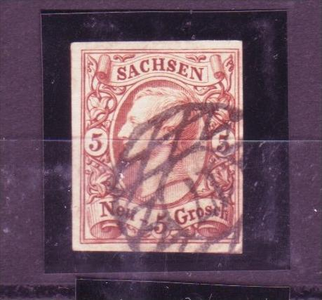 Sachsen  Johan  5 Groschen Nr. 12 e  geprüft ( p3490 ) siehe scan !