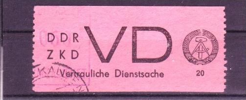 DDR  VD2   Rückseite rosa ! o  ( c5237 ) siehe scan !