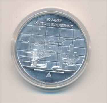 Deutschland  Silber 10 Euro Stück - Bundesbank 2007 bankfrisch -stempelglanz  (x1613 )