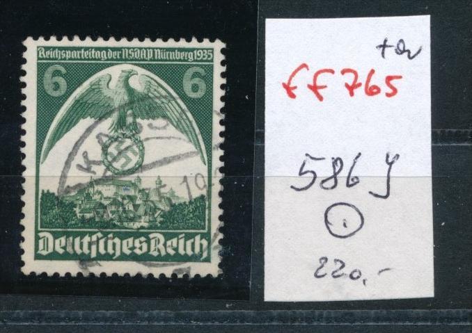 D.-Reich Nr. 596y  verkehrtes Wasserzeichen  o   (ff  765  ) siehe scan !