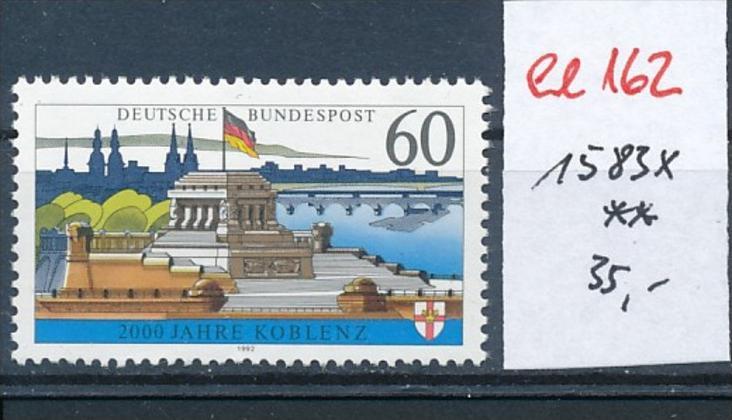 BRD Nr.   1583 X  -weises Papier ohne Flureszenz  **  (ee162     ) siehe scan....