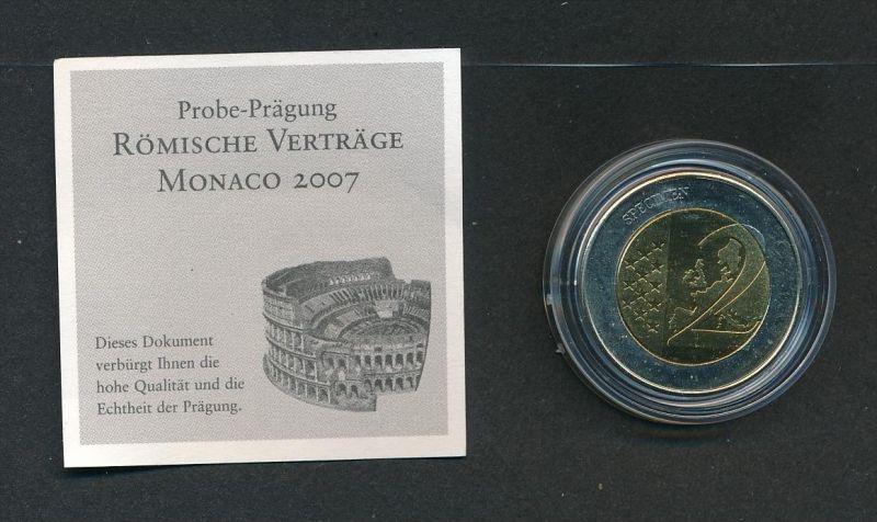 Monaco 2,- Euro Römische Verträge   (x2018  )  siehe Bild