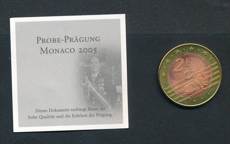 Monaco 2,- Euro  2005 Probe -Albert    (x2020  )  siehe Bild