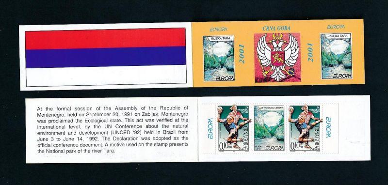 Montenegro  Cept Heft 2001...   (oo3379   ) siehe scan