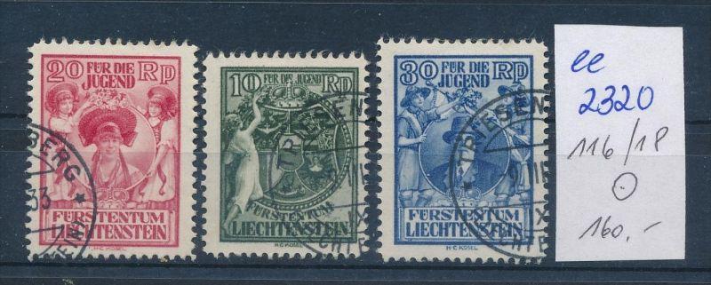 Liechtenstein Nr. 116-18   o ( ee2320 ) siehe scan