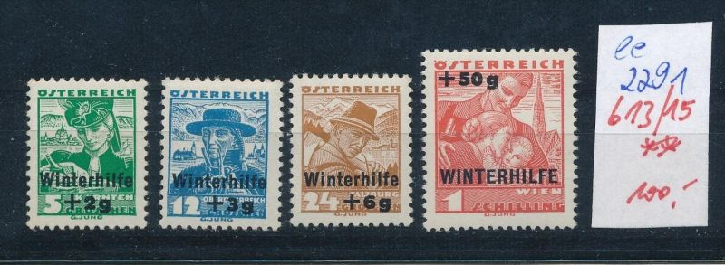 Österreich Nr. 613-15    ** ( ee2291 ) siehe scan