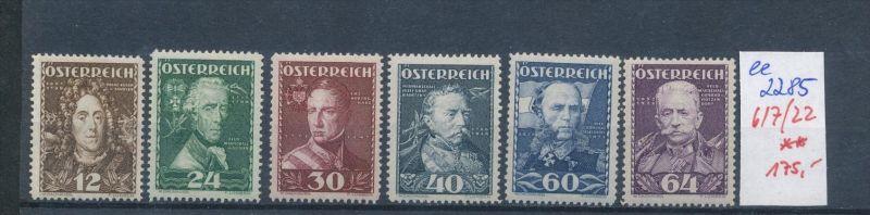 Österreich Nr. 617-22    ** ( ee2285 ) siehe scan