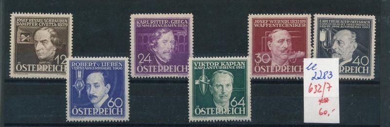 Österreich Nr. 632-7   ** ( ee2283 ) siehe scan