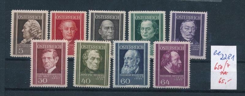 Österreich Nr. 650-7  ** ( ee2281 ) siehe scan
