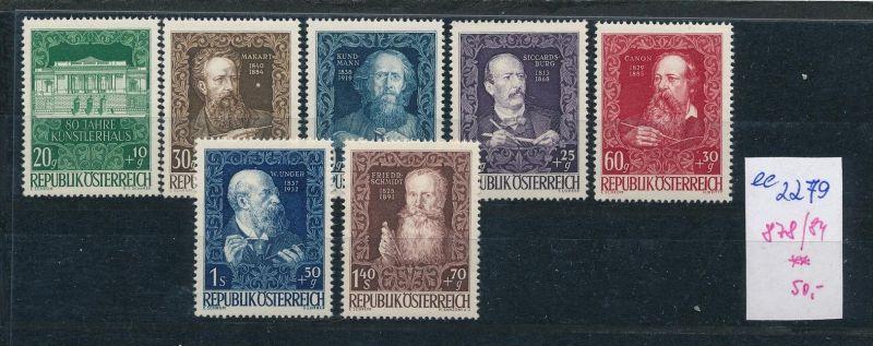 Österreich Nr. 878-84 ** ( ee2279 ) siehe scan