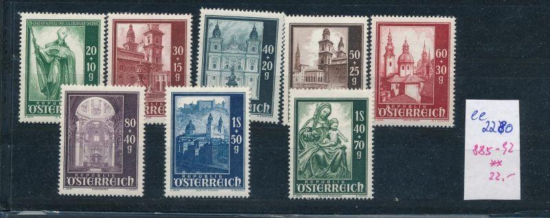 Österreich Nr. 885-92   ** ( ee2280 ) siehe scan