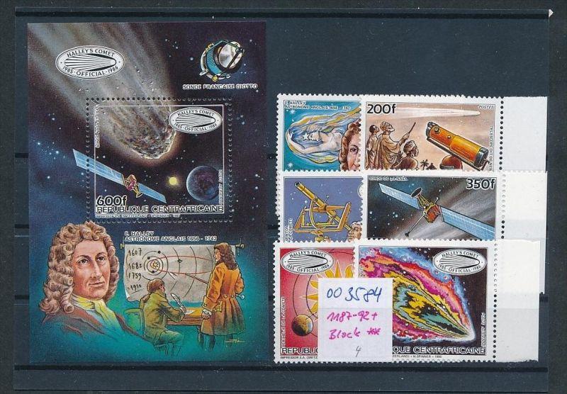 Weltraum -Z.-Afrika 1187-92 + Block    **   ( oo3584 ) siehe scan !