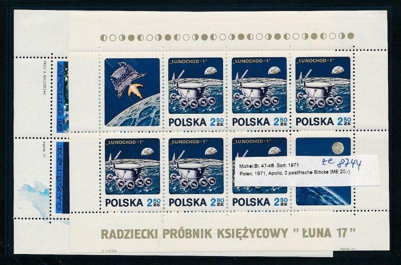 Weltraum -Polen - Block 47+48  ** ( ze8744 ) siehe scan !