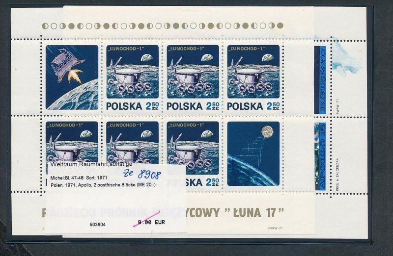 Weltraum -Polen - Block 47+48  ** ( ze8908 ) siehe scan !