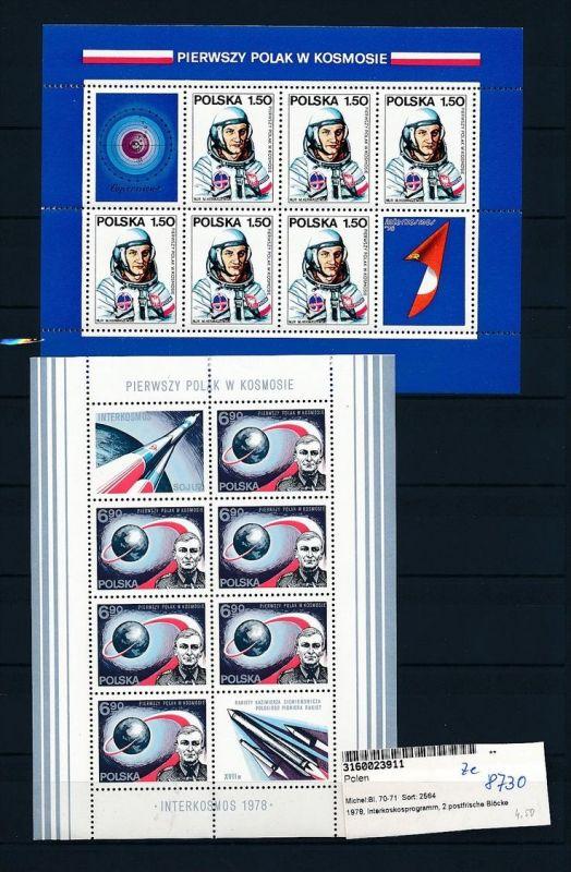 Weltraum -Polen - Block  70+71   ** ( ze8730 ) siehe scan !