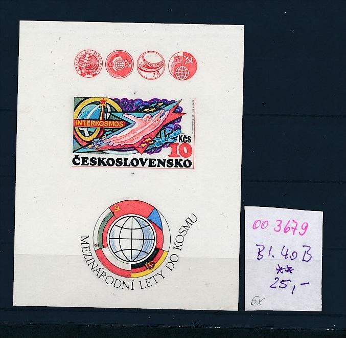 Tschechen Block 40  B  geschnitten  **  ( oo3679 ) siehe scan !