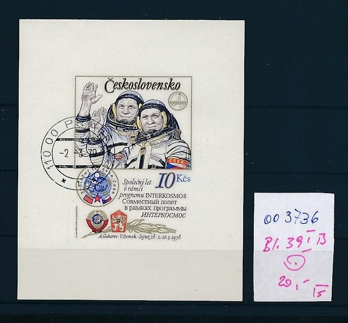Tschechen Block   39 I B   o  ( oo3736 ) siehe scan !
