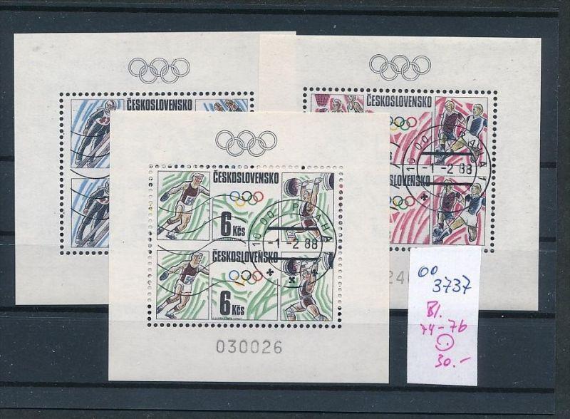 Tschechen Block   74-76   o  ( oo3737 ) siehe scan !