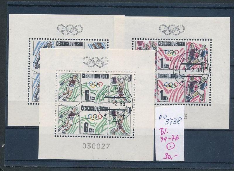 Tschechen Block   74-76   o  ( oo3738 ) siehe scan !