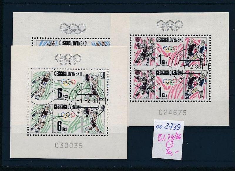 Tschechen Block   74-76   o  ( oo3739 ) siehe scan !