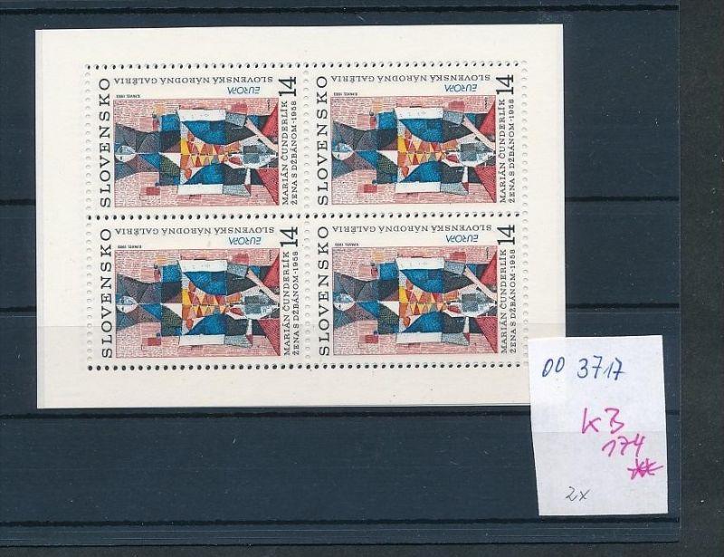 Slowakei  Block  174 **  ( oo3717 ) siehe scan !