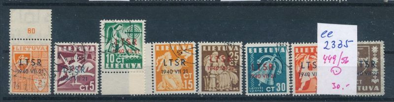 Litauen Nr. 449-56  o ( ee2335  ) siehe scan !