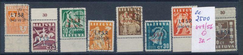 Litauen Nr. 449-56  o ( ee2500  ) siehe scan !