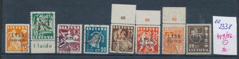 Litauen Nr. 449-56  o ( ee2338  ) siehe scan !