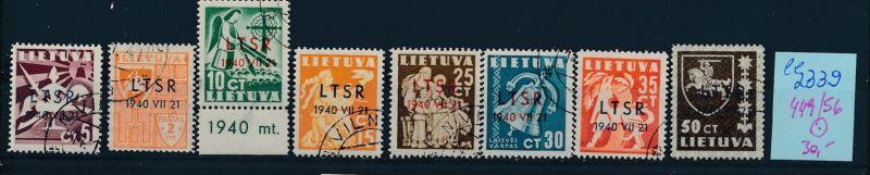 Litauen Nr. 449-56  o ( ee2339  ) siehe scan !