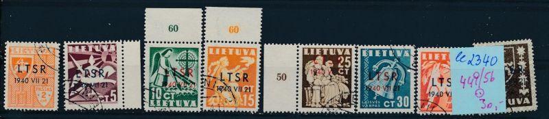 Litauen Nr. 449-56  o ( ee2340  ) siehe scan !