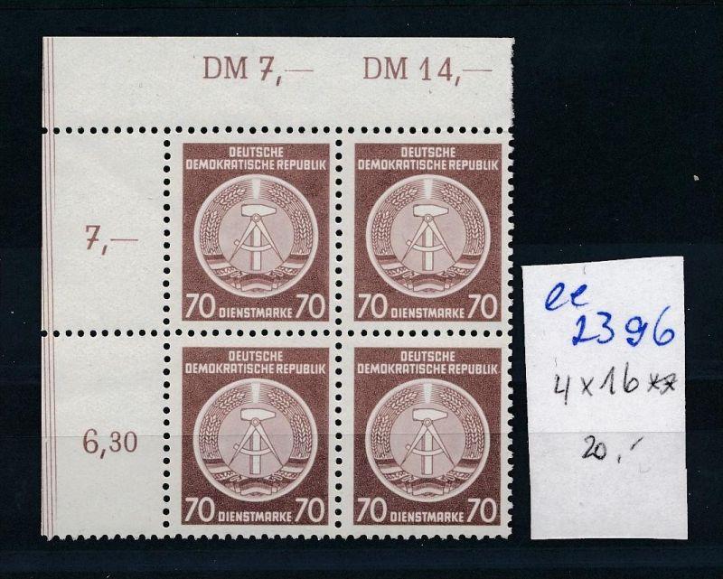 DDR Dienst  4x Nr 16  **  ( ee2396  ) siehe scan !