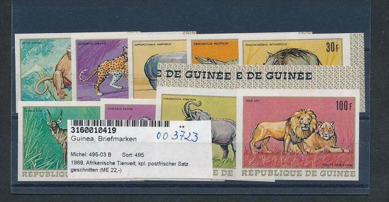 Guinea   Nr. 495-03  U    **( oo3723  ) siehe scan !