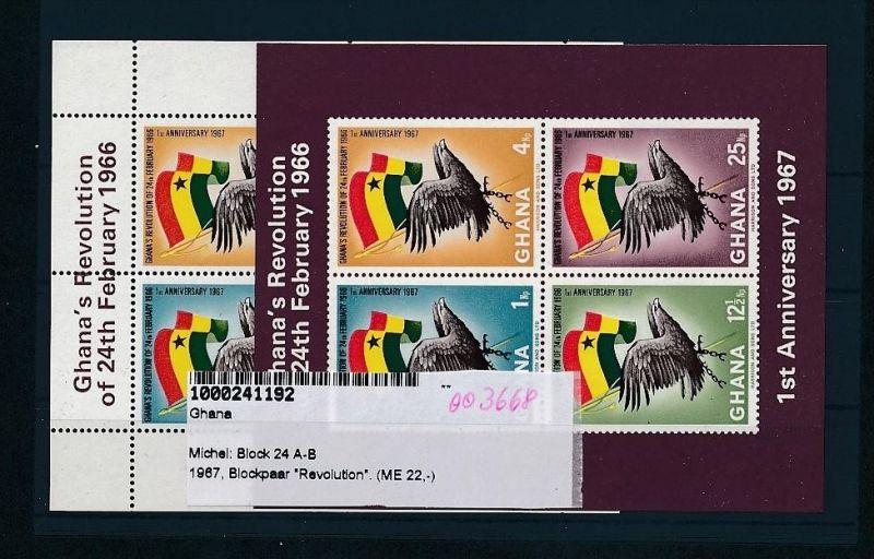 Ghana Bl. 24 A+B     **( oo3668  ) siehe scan !