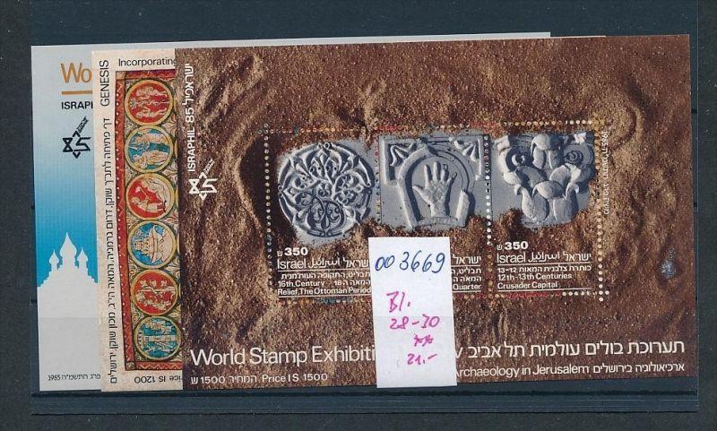 Israel  Bl. 28-30     **( oo3669  ) siehe scan !