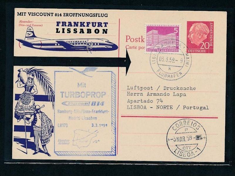 BRD Luftpost netter Beleg ( t8372  ) siehe scan !