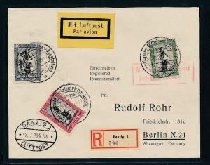 Danzig  -  Luftpost  netter  Beleg  (p4429  ) siehe scan !!