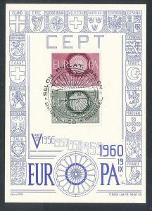 Cept Sonder Karte 1960 Belgien     ( t6969 ) siehe scan !