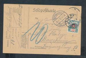 Feldpost Beleg -Nachporto Schweiz   (t5609 ) siehe scan