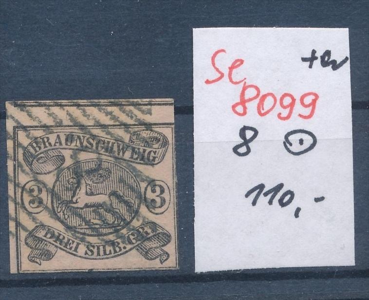 Braunschweig  Nr. 8   o  (se 8099  ) siehe Bild
