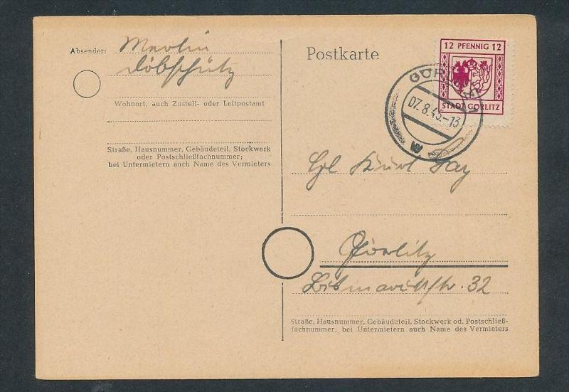 Görlitz Karte t  - Beleg  ... (t9974   ) siehe Bild