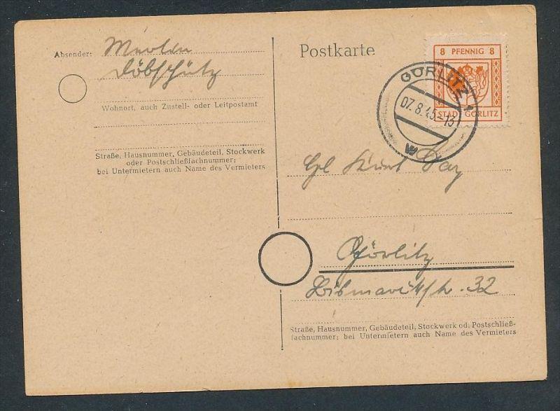 Görlitz Karte t  - Beleg  ... (t9975   ) siehe Bild