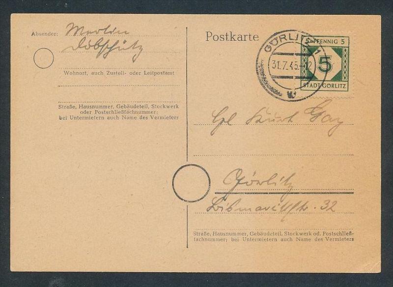 Görlitz Karte t  - Beleg  ... (t9978   ) siehe Bild