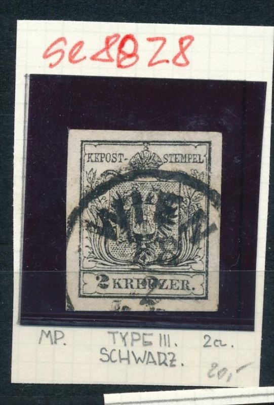 Österreich Nr. 2 Zettel beachten  o  (se8828  ) siehe Bild